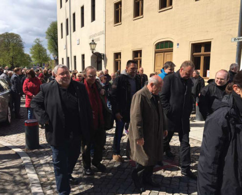 Anschlag der 95 Thesen in Wittenberg am 23- April 2017